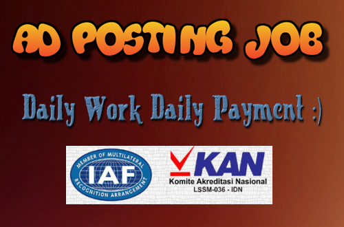 Ad posting job daily payment